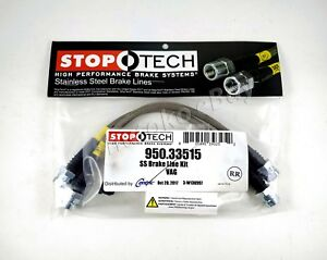 Stoptech Stainless Steel Braided Rear Brake Lines For 2008 Volkswagen Vw R32