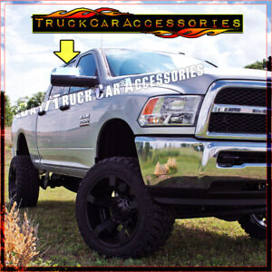 For Dodge Ram 2500 3500 2010 2015 2016 Chrome Top Towing Mirrors Covers Signal