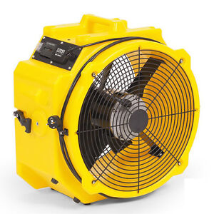 Zoom 1 4 Hp Axial Ventilation Fan Commercial Quality Floor Dryer Air Mover