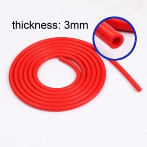 3mm 1 8 Inch Red Universal Silicone Air Vacuum Hose Line Pipe Tube 10 Foot