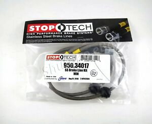 Stoptech Stainless Braided Front Brake Lines For 09 13 Mini Cooper Countryman