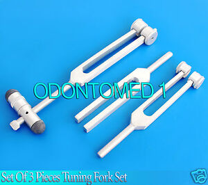 New Tuning Fork Set Of 3 C512 C256 C128 Instruments