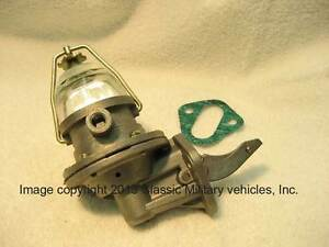 Willys Fuel Pump Cj2a Cj3a Mb Ford Gpw With Glass Bowl Jeep L134 New