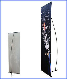 L Shape Banner Stand W24 xh64 With Free Printing L100