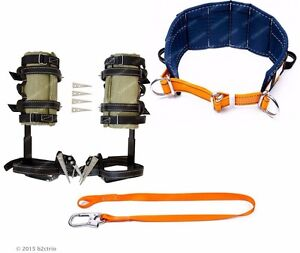 Tree Climbing Spike Set Safety Belt Safety Lanyard arborist Spurs Gaffs