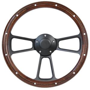 Ford Mustang 14 Mahogany Steering Wheel For Flaming River Steering Column