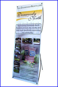 X Banner Stand W24 xh64 With Free Printing Trade Show Display
