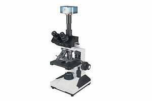 2000x Research Trinocular Doctor Vet Microscope W 3mp Usb Camera Plan Objectives