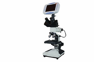 Professional Digital Metallurgical Microscope W 6 Lcd 2mp Tv Camera Sd Card