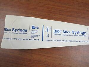 Lot Of 20 Bd 60 Cc Sterile Syringes 309663 New A252