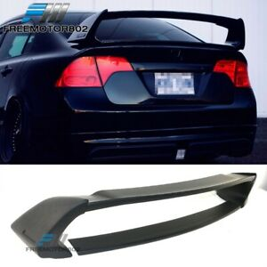 For 06 11 Honda Civic 4door Sedan Mu Rr Rear Trunk Spoiler Wing Matte Black