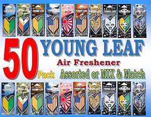 50 Pack Wakaba Japan Treefrog Young Leaf Air Freshener Assorted Or Mix