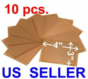 10 Pcs 3x4 7x9cm Prototyping Pcb Printed Circuit Board Prototype Breadboard
