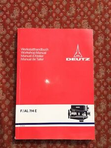 Deutz Workshop Manual Air Cooled Diesel Engines 1973 Germany F al 714e
