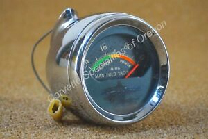 Original 1963 Pontiac Grand Prix Vacuum Gauge 389 421 27 63