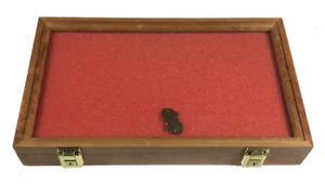 Cherry Wood Display Case 9 1 4 X 15 3 4 X 2 For Arrowheads Knives Coins More