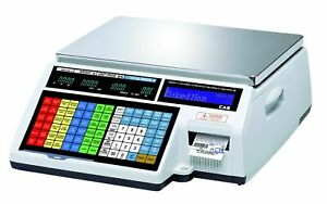 Cas Cl5000b Label Printing Scale Legal For Trade 60lb brand New