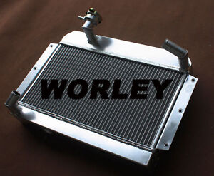 56 Mm Aluminum Radiator For Rover Mg Mga 1500 1600 1622 De Luxe Manual