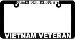 Duty Honor Country Vietnam Veteran License Plate Frame Free Shipping