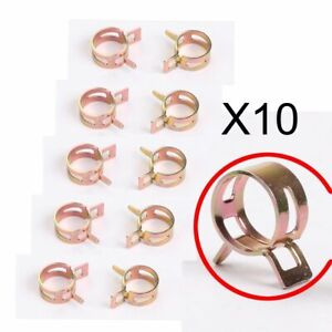 10 Pcs Id 1 2 Inch Spring Band Clip Fuel Silicone Vacuum Hose Clamp 12mm