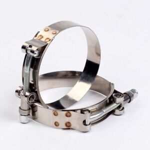 2 X 2 5 Stainless Steel T Bolt Clamp Turbo Intake 2 1 2 Silicone Hose Clamp