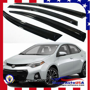 Jdm Mugen 3d Style Smoked Window Visor Vent Shade For 2014 2019 Toyota Corolla