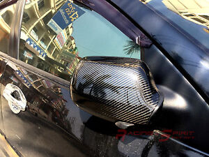 Real 3d Gloss Carbon Fiber Side Mirror Cover 04 09 Mazda3 Bk 4 5 Drs Mazdaspeed