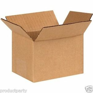 Lot Of 45 Small Cardboard Boxes For Shipping 4x4x6 New Generic Shipping Boxes