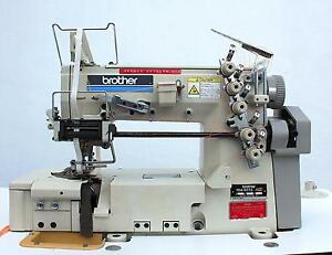 Brother Fd4 b272 Coverstitch 3 needle Fabric Trimmer Industrial Sewing Machine