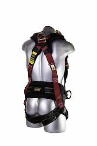 New Full Body Protection Construction Harness Belt Back M l Side D rings Safety