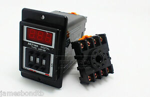 Asy 3d 12 24 110 220v Power On Delay Timer Time Relay 1 999s Seconds base Socket