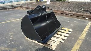 New 48 Excavator Ditch Cleaning Bucket For A Takeuchi Tb285 With Bolt On Edge