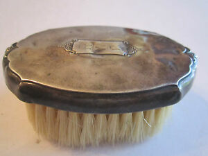 Vintage Sterling Silver Clothes Grooming Brush Inscribed R W C 3 Long Bba 5