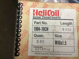 Qty 100 Helicoil Screw Thread Inserts 1084 10cn 200 M10 X 1 5 X 20 Mm Long