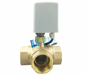 Brass Motorized Ball Valve T l Port 220vac Three Way 3 4 Dn20 Electrical Valve