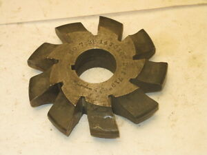 Brown Sharpe Involute Gear Tooth Cutter No 7 3p 14 16 T D f 719
