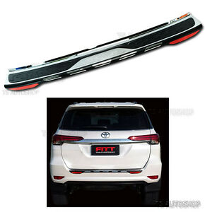Fitt Rear Tailgate Bumper Guard Cover For Toyota Fortuner Suv 2wd 4wd 2015 2016
