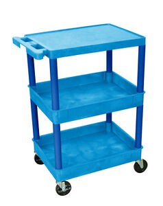 Luxor Flat Top And Tub Middle bottom Shelf Cart Bustc211bu New