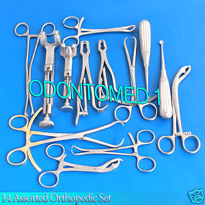 14 Assorted Orthopedic Surgical Instruments Custom Made Set sr 531