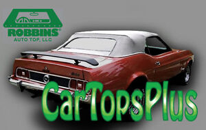 1971 73 Ford Mustang cougar Convertible Top Glass Window White Vinyl
