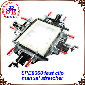 Fast Clip Manual Stretcher Screen Printing Plate Making Tool For Silk Screen