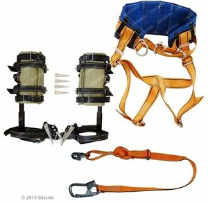 Tree Climbing Spikes Spurs Safety Belt With Straps Adjustable Safety Lanyard