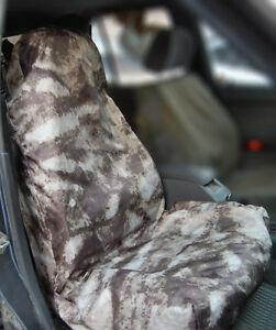 Water Resistant Universal Front And Back Seat Covers 3 Covers Camo Brown