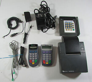 Verifone Tranz 380 Printer 900 Pinpad 1000se Credit Card Terminals Cords