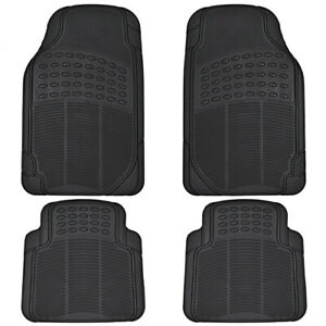 4pc Rubber Liner For Honda Civic Floor Mats Black All Weather Semi Custom Fit