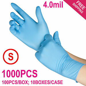 1000 case Disposable Powder free Nitrile Medical Exam latex Free Gloves small