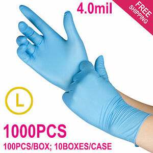 1000 case Disposable Powder free Nitrile Medical Exam latex Free Gloves large