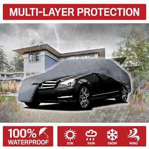 5 layer Outdoor Car Cover For Mercedes C Class Dust Rain Snow Waterproof