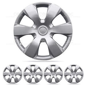 4 Piece Hubcaps Set Of 16 Inch Silver Snap On Full Lug Skin Cover Oem Wheel