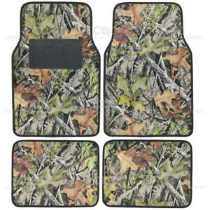 Camo Mats For Car Suv Truck 4 Pc Car Floor Mat Camouflage Rubber Backing Oak